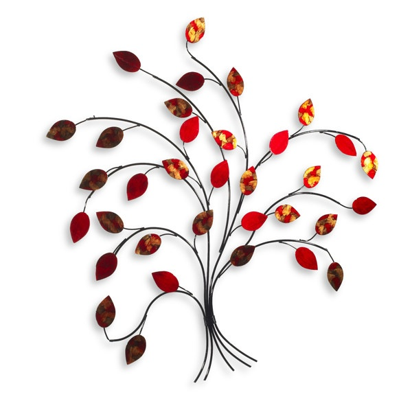Bed Bath And Beyond Metal Mirror Wall Decor : Red tree metal wall art