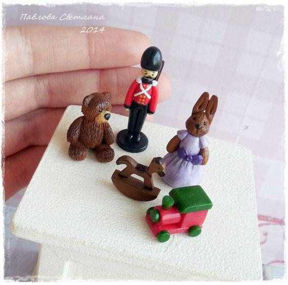Миниатюрные игрушки для кукольного домика. от Pavlysha на Etsy, €13.00