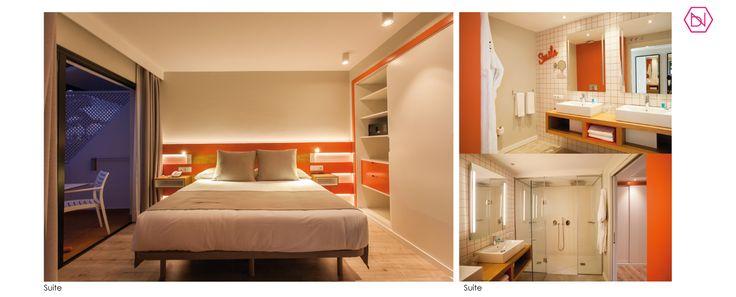 Coconut suite . Reforma Hotel Vanilla Garden. Tenerife  Coconut suite. Refurbishment Vanilla Garden Hotel. Tenerife  #hotel #refurbishment #design #colorful #salmon #tropical #design #interiordesign #reforma