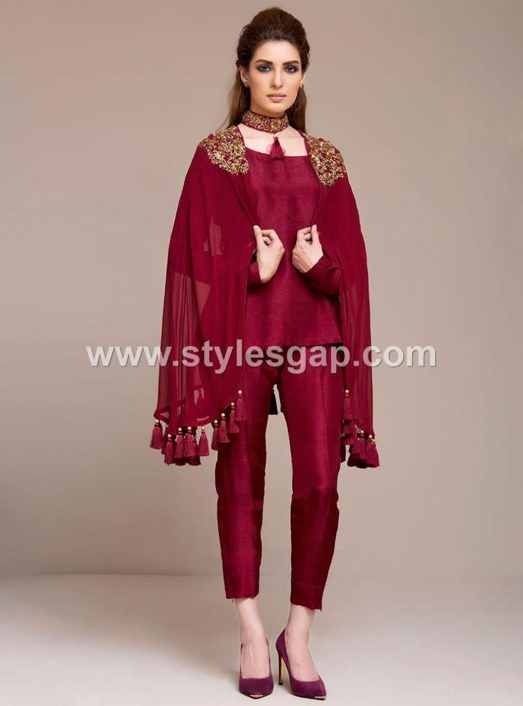 Latest Pakistani Cape Style Dresses 2020-2021 Top Designer -3536