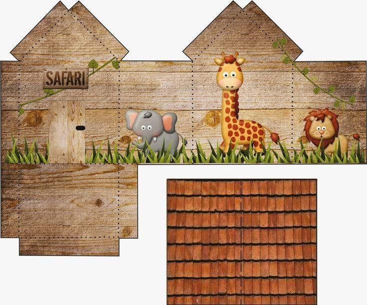 Safari: House shapped Free Printable Box. | Oh My Fiesta! in english
