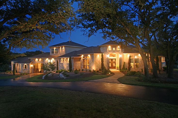 Texas hill country home night shot omni homes beautiful homes pinterest night texas - Beatiful home pic ...