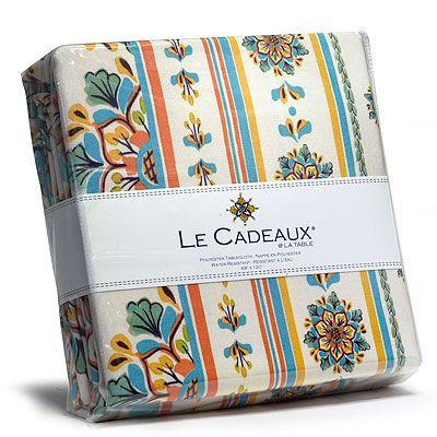 Le Cadeaux Water Resistant Tablecloth   San Miguel   69 X 69 In