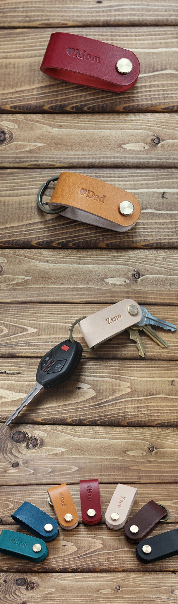 Personalized Leather KEY HOLDER, Key folder, key chain. Great gift idea for mother's day, Father's day, wedding, Anniversary, birthday, Christmas, new car, new house.