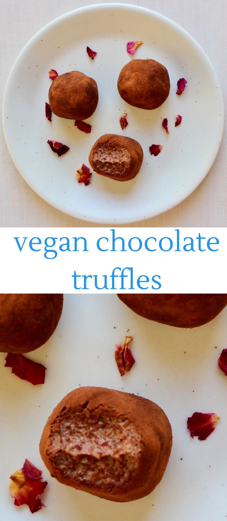 These Vegan Cashew Chocolate Truffles are the most delicious treat – they're melt-in-your-mouth silky, super creamy, and unbelievably healthy! Also refined sugar free.