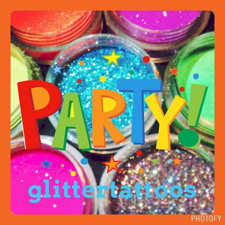 Kids glittertattoo party