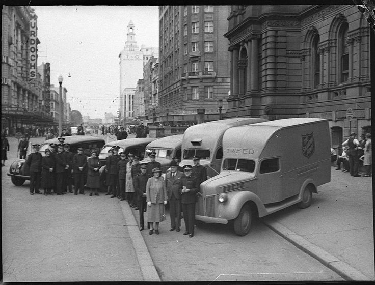 Salvation Army mobile canteens  - 1941. Find more information about this picture: http://acms.sl.nsw.gov.au/item/itemDetailPaged.aspx?itemID=28889 . From the collection of the State Library of New South Wales www.sl.nsw.gov.au (Thank you State Library of NSW @statelibrarynsw on Pinterest for giving The Salvation Army SNE Serving CT and RI @thesalarmyctri on Pinterest information about your terrific collections!).
