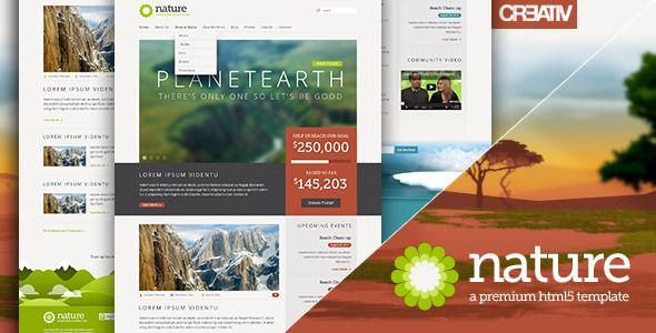 Nature - Responsive HTML5 Template