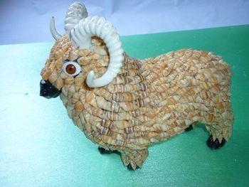 Artesanías de concha de caracol, decoraciones animales, 12 ovejas del zodiaco chino, venta al por mayor