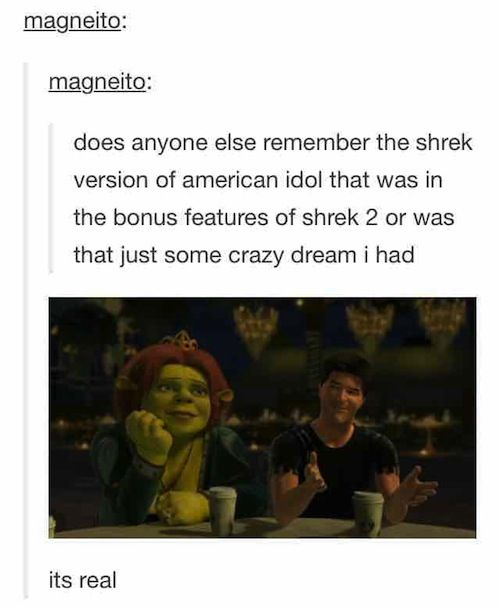 tumblr shrek I used to play this as a kid
