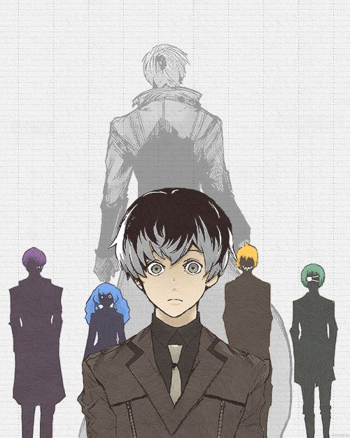 The new manga of Tokyo Ghoul is interesting but so many people that could be Kaneki @_@
