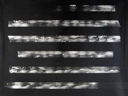 Darren Glass, Tongario Crossing (Looking West), 2008, Selenium toned contact print on fibre-based paper