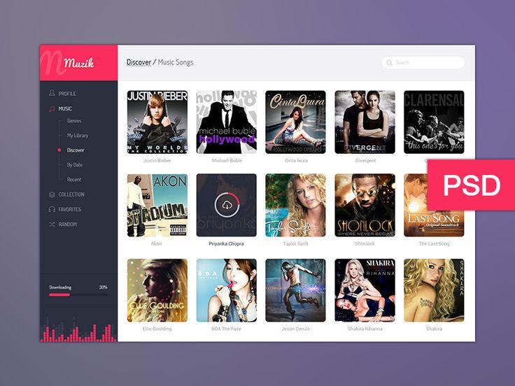 Muzik Dashboard UI