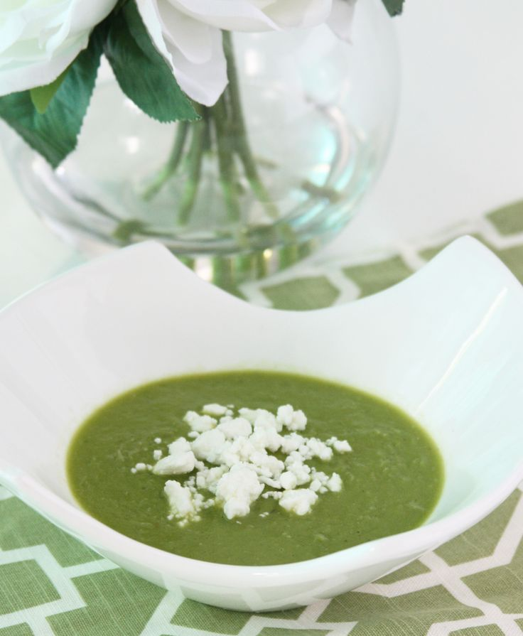 Fresh Pea Soup with Feta cheese. Simple and elegant...http://www.gourmeteasybyoksana.com/soups/#/peasoup/