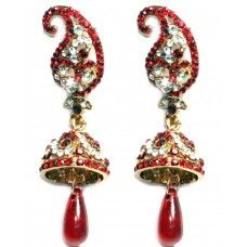 Red Ethnic Bollywood Earrings