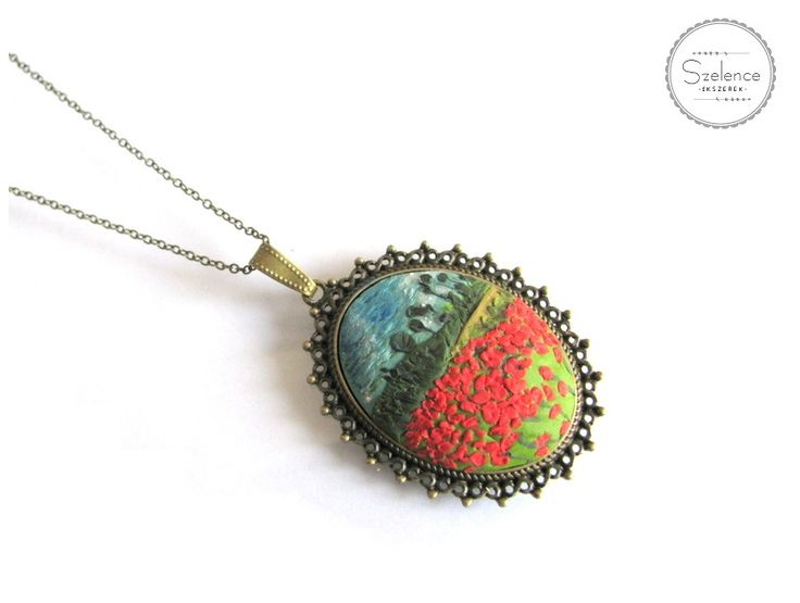 "Van Gogh ""Poppy field"" Necklace 