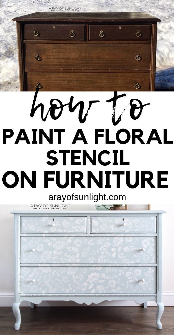 How To Stencil Painted Furniture In 2020 Stencil Furniture Furniture Painting Techniques Painted Furniture
