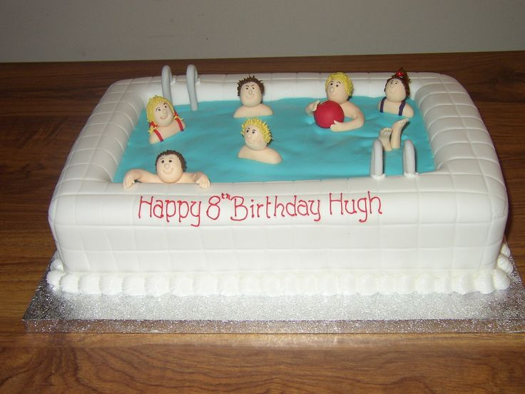Swimming Birthday Cakes