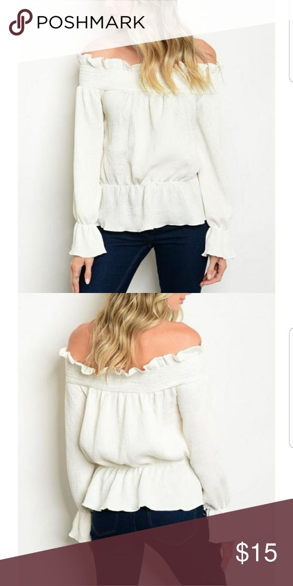 White Off the Shoulder Top White Off the Shoulder Top Soho South Boutique Tops Blouses
