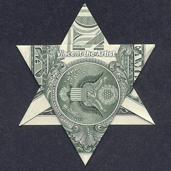 dollar origami star of david money dollar origami