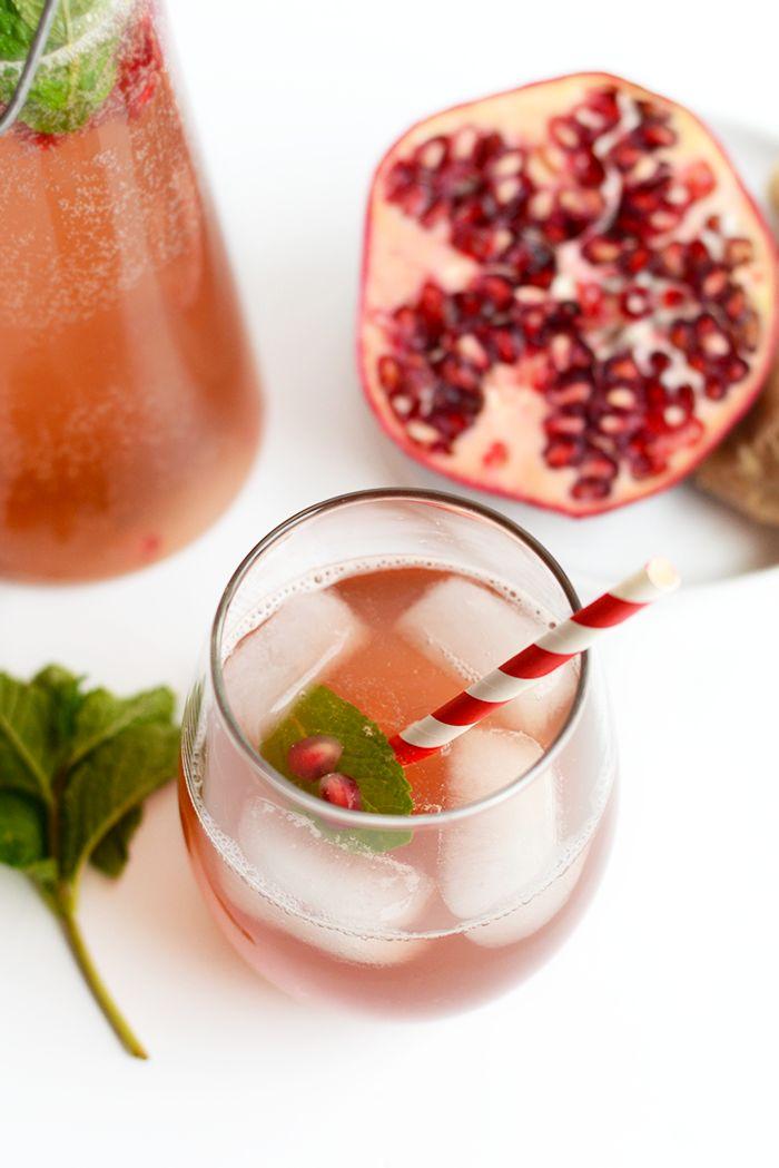 Homemade Sparkling Water Recipe - Pomegranate Ginger Fizz