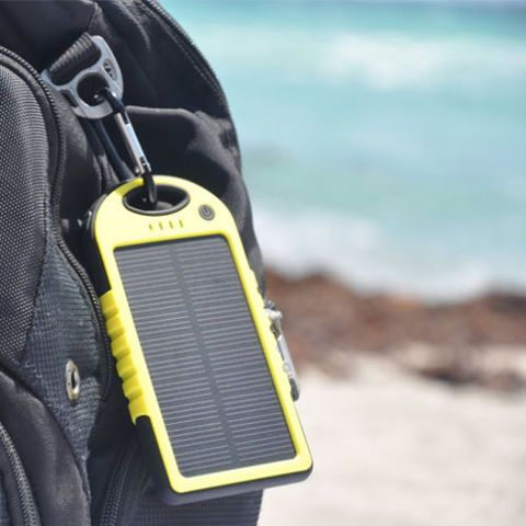 SOLAR CHARGER 5K This Free Electron #SolarCharger is perfect companion for the smart #traveller! Use the power of the #sun to charge its #powerbank when an electrical outlet isn't available. With a 5,000mAh battery, it can charge a #smartphone 2+ times*. It has two USB outputs so you can charge your phone and tablet at the same time. It is #rainproof, #dustproof and #shock-resistant! Don't start your #outback or overseas journey without one!