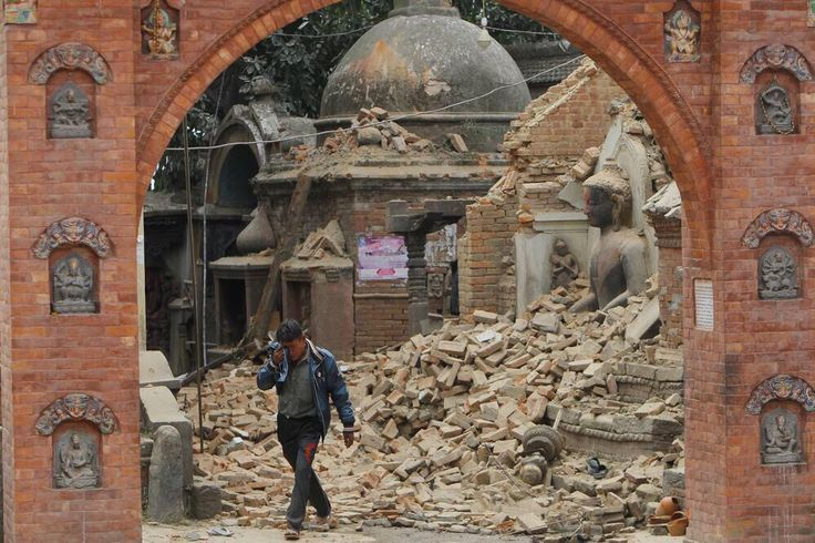 Kathmandu right after the quake