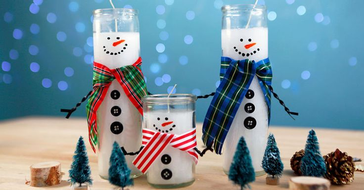 How to Turn Dollar Store Candles Into the Most Charming Snowmen
