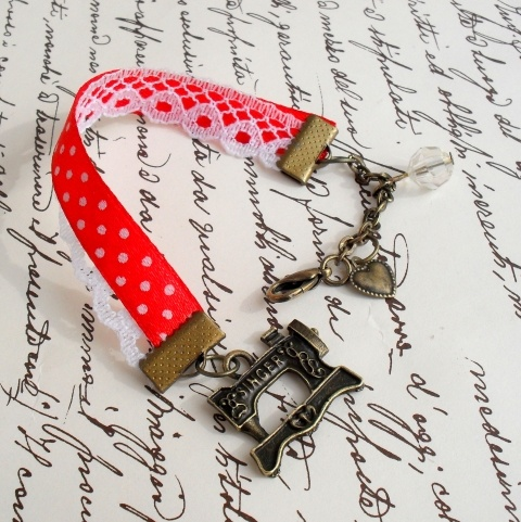Singer varrógép karkötő - ajándék, Anyák  napja, születésnap, névnap, Ékszer, óra, Karkötő, Meska #bracelet #meska
