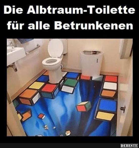 Die Albtraum-Toilette für alle Betrunkenen..