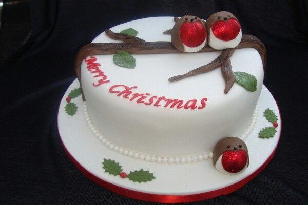 Robins! Christmas cake ideas Pinterest