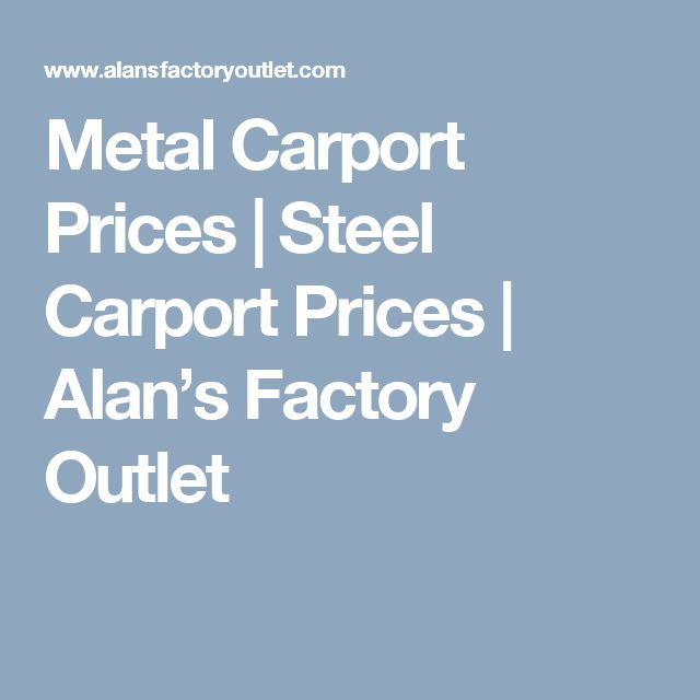 Epic Metal Carport Prices Steel Carport Prices Alan us Factory Outlet