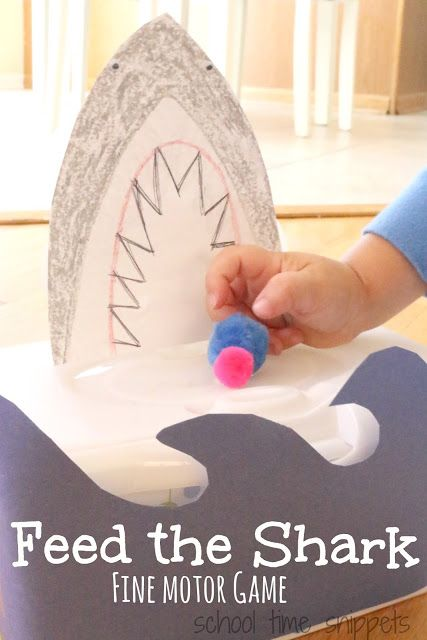 School Time Snippets: Feed the Shark Fine Motor Games for Kids. Pinned by SOS Inc. Resources. Follow all our boards at pinterest.com/sostherapy/ for therapy resources.