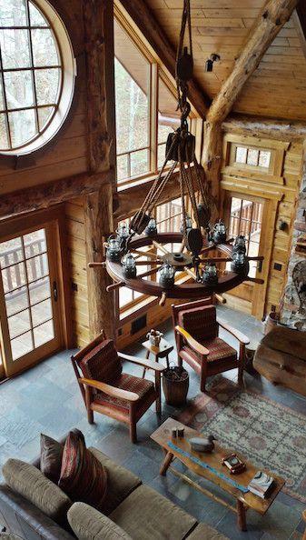 Nautical Antique Ships Wheel Chandelier - SWC2001