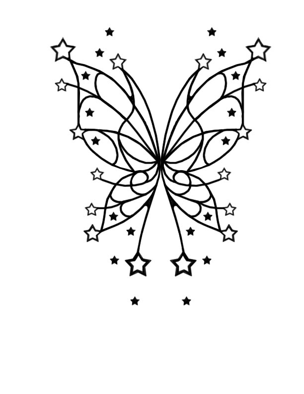 Butterfly Template Stencil From 123rf Com