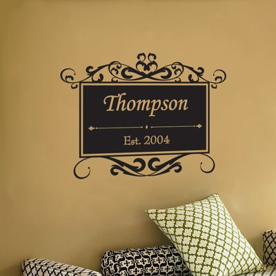 Best Monogram Wall Decals Images On Pinterest - Monogram wall decals for business