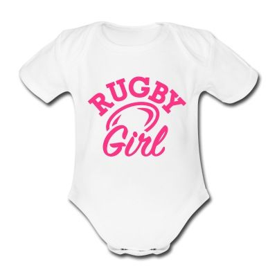 Rugby girl bodysuit...because girls love rugby too