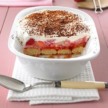 Weight Watchers - Aardbei-rabarber-tiramisu - 3pt