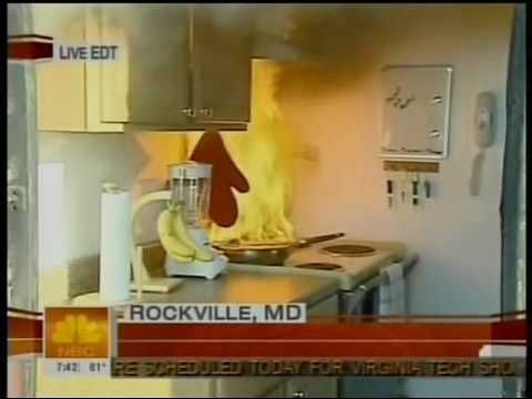 NBC TODAY Show: Kitchen Fire Safety, Apr. 23, 2007 - YouTube