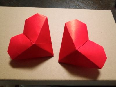 折り紙の 折り紙のハートの折り方 : nl.pinterest.com