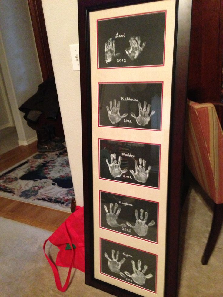 Kids Or Grandkids Handprints Perfect Gift For Someone Who Already Has Everything