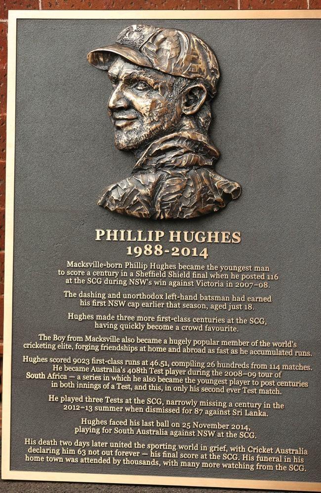 Phillip Hughes Plaque