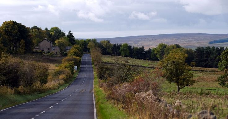 The Haydon Bridge to Penrith road takes you to the roof of Britain. A686 Cumbria and Northumberland.  Hour and ten