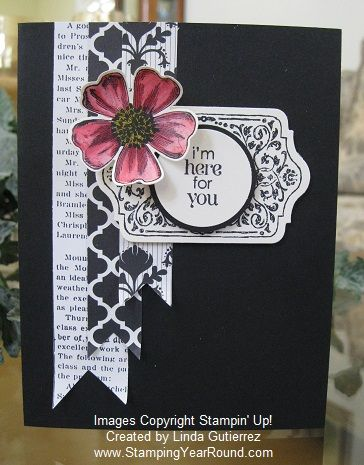 Stampin' Up! Card by Linda G: Flower Shop and Chalk Talk