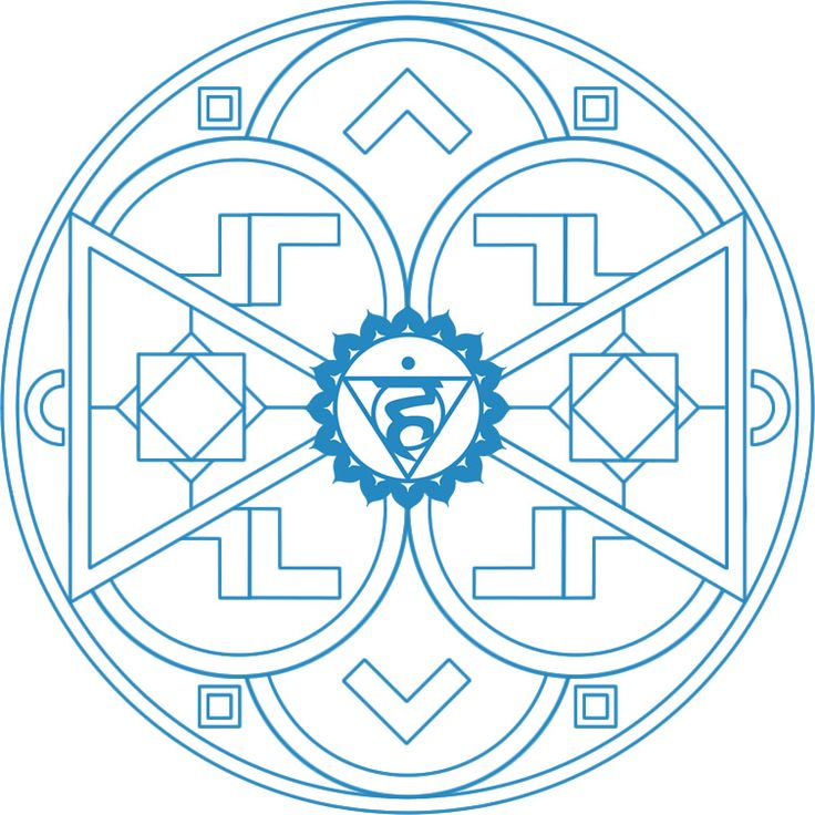 chakra mandalas to color - Google Search