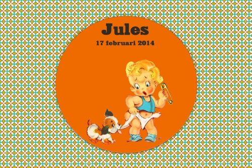 Geboortekaartje retro jongen - Jongen met hondje - Pimpelpluis  https://www.facebook.com/pages/Pimpelpluis/188675421305550?ref=hl (# vintage - retro - kindje - ventje - hond - hondje - luier - schattig - kleurrijk - origineel)