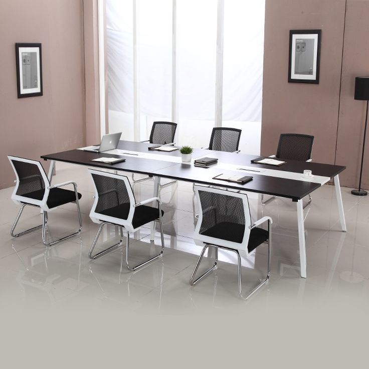 Customized Design Melamine Board Long Sectional Meeting Table For Office Product