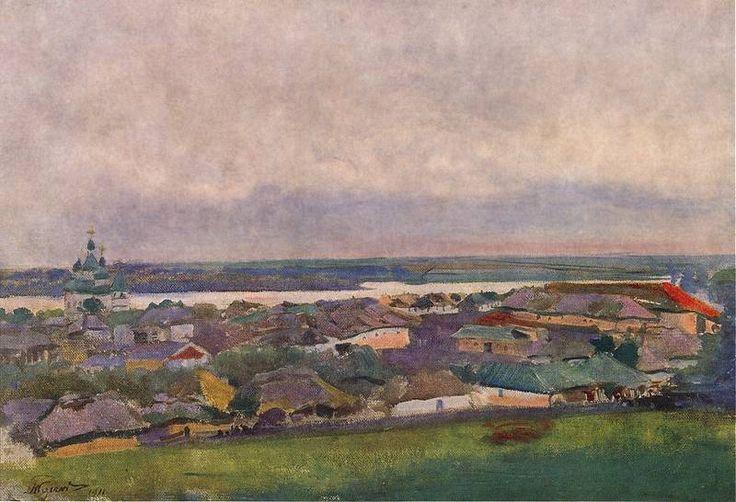 Leon Jan Wyczolkowski (1852-1936) - Ukrainian Landscape, 1911