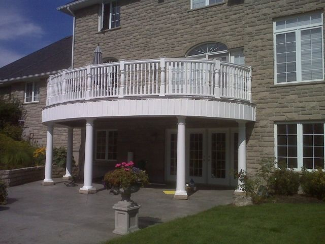 Exceptional PVC Deck Railing   Curved