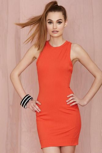 Nasty Gal Brickell Ribbed Dress #dress #women #covetme #nastygal
